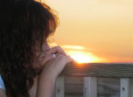 A contemplative woman